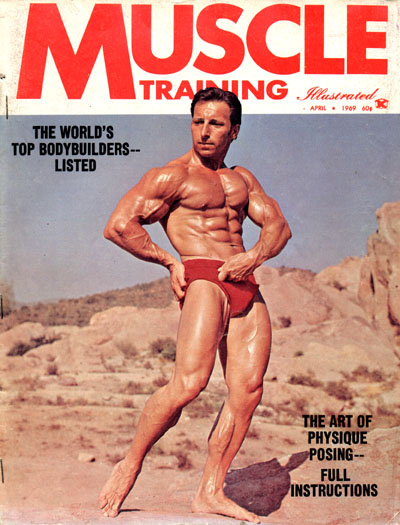 Eddie Giuliani posing on the cover of a bodybuilding magazine