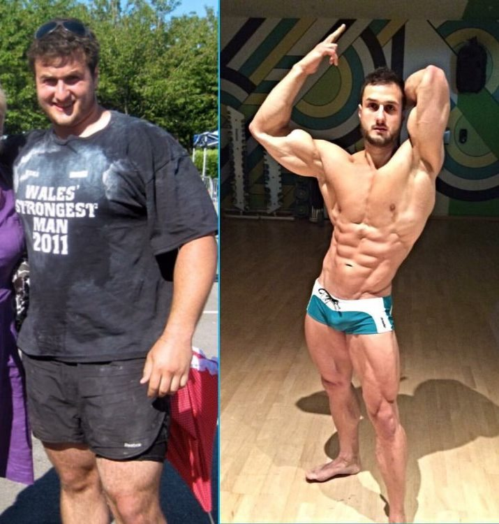Emil Goliath's transformation from strongman to fitness model