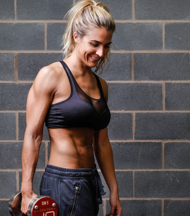 Gemma Atkinson smiling and posing for a photo