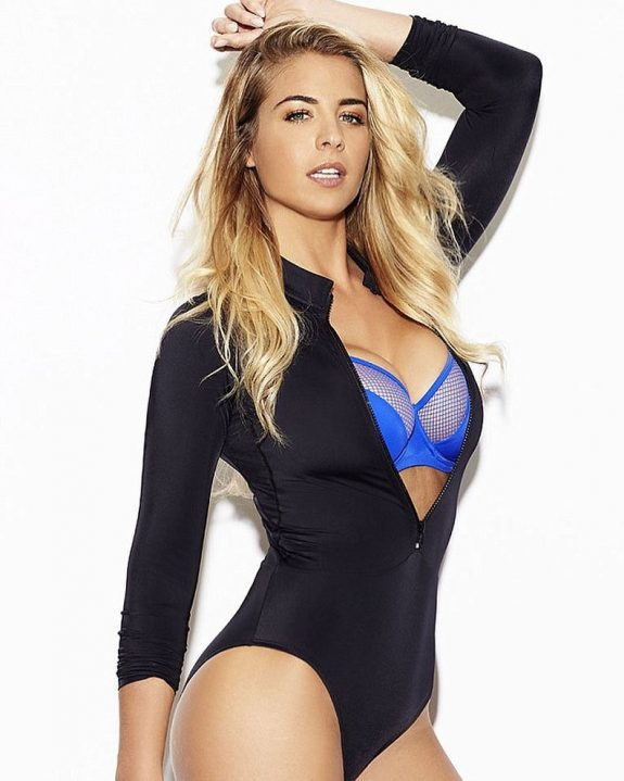 Gemma Atkinson doing a glamour model photo shoot