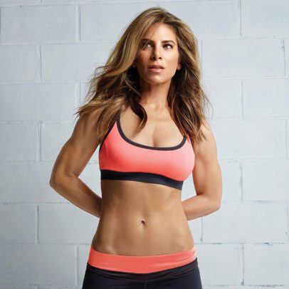 Jillian Michaels showing off her abs in a photo shoot,