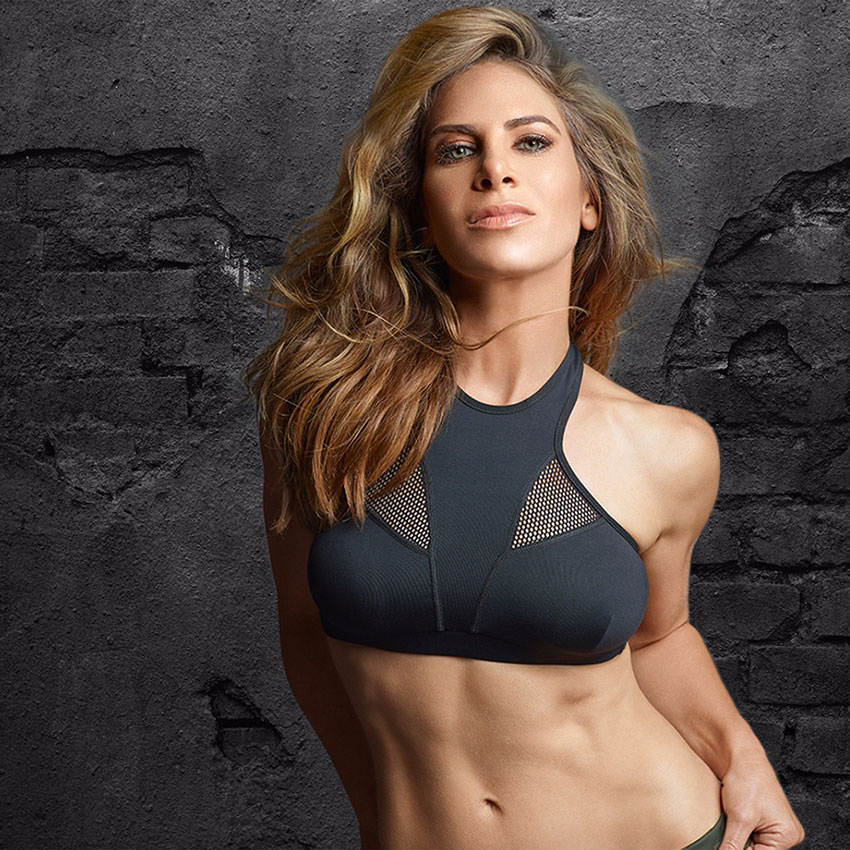 Jillian Michaels posing for a photo shoot.