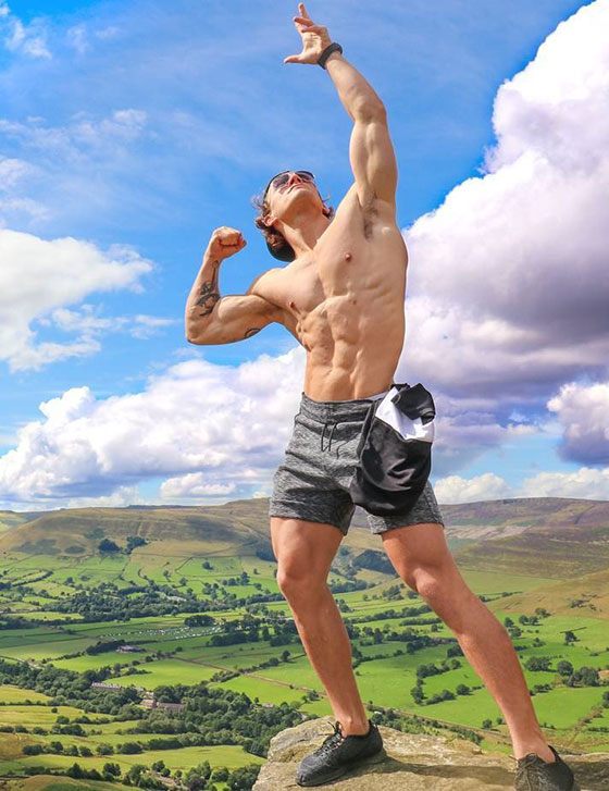 Joe Delaney posing in the Peak District.