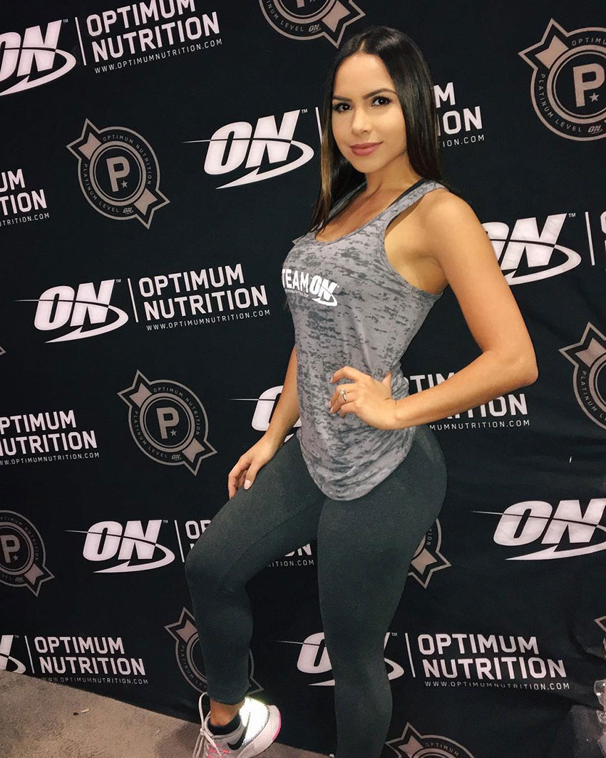 Lisa Morales at a sponsored athlete event.