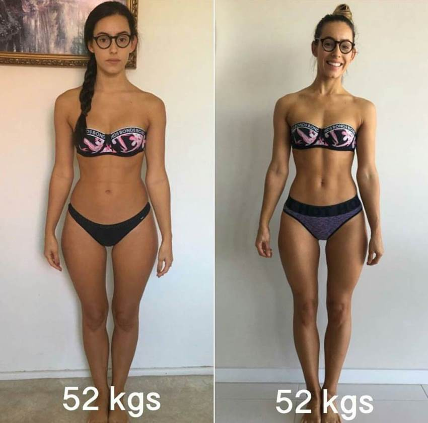 Madalin Giorgetta Frodsham comparison photo before and after her fitness transformation