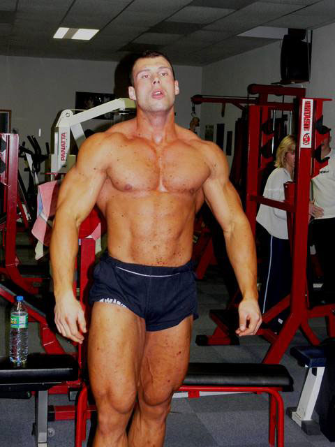 Morgan Aste in his earlier days of bodybuilding