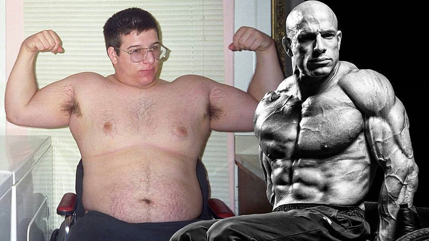 Nick Scott before compared to how he looks now.
