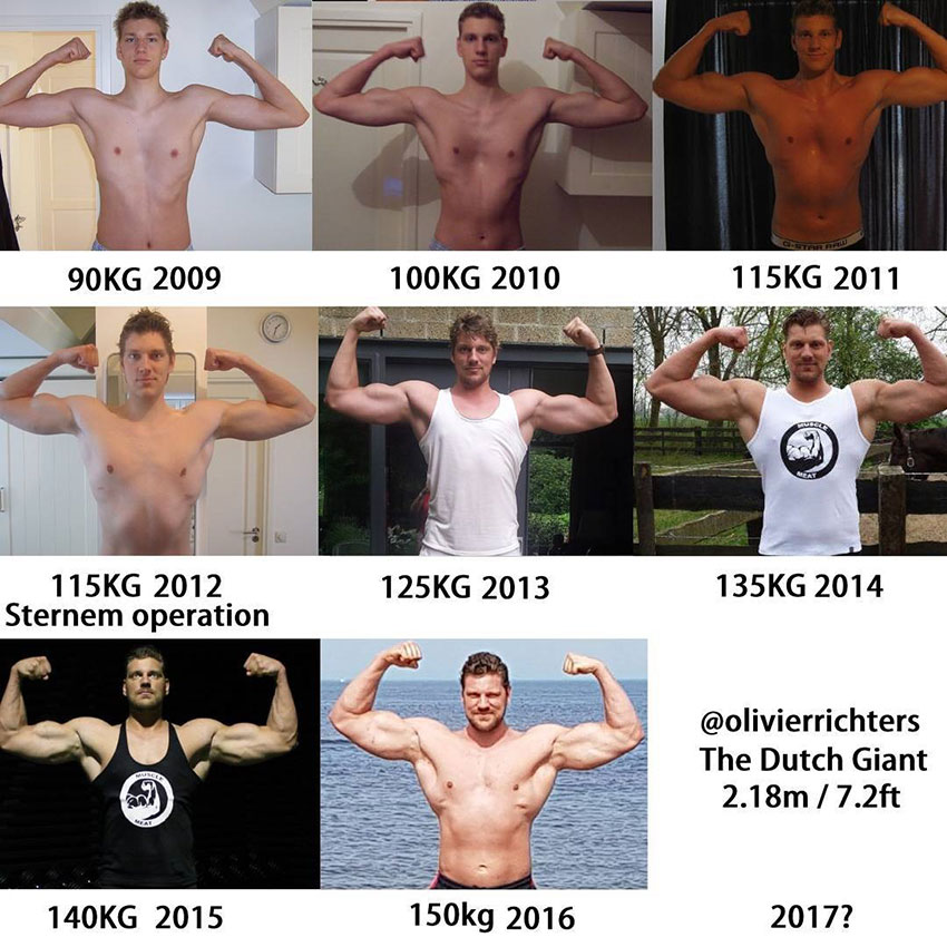 Olivier Richters and his journey from when he started in bodybuilding to now.