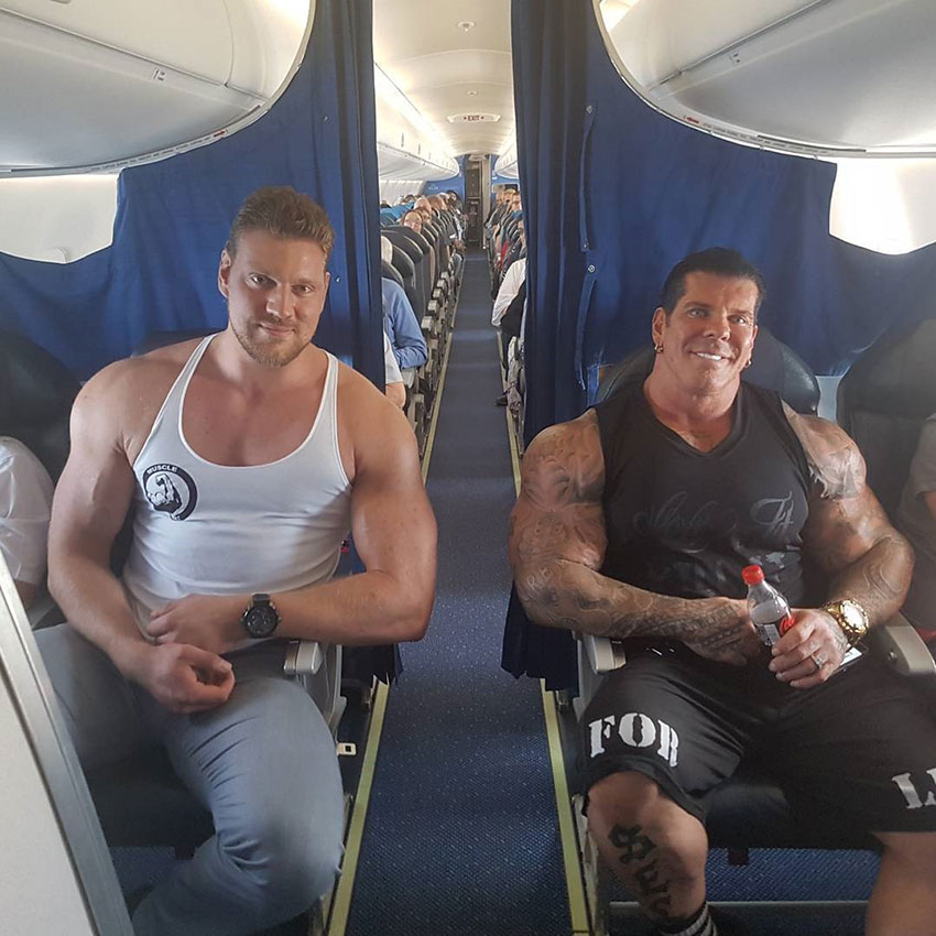 Olivier Richters sat on a plane with Rich Piana.