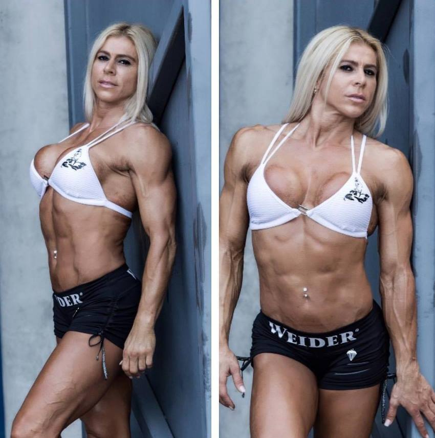Regiane Da Silva Botthof posing for a photo, looking lean and muscular