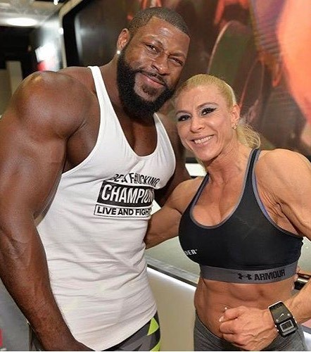 Regiane Da Silva Botthof posing with Edgard John-Augustin for the photo