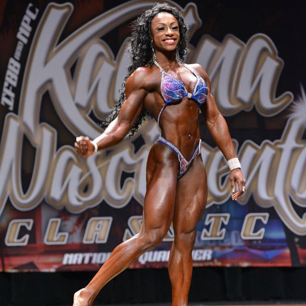 Shanique Grant at a bodybuilding competition.