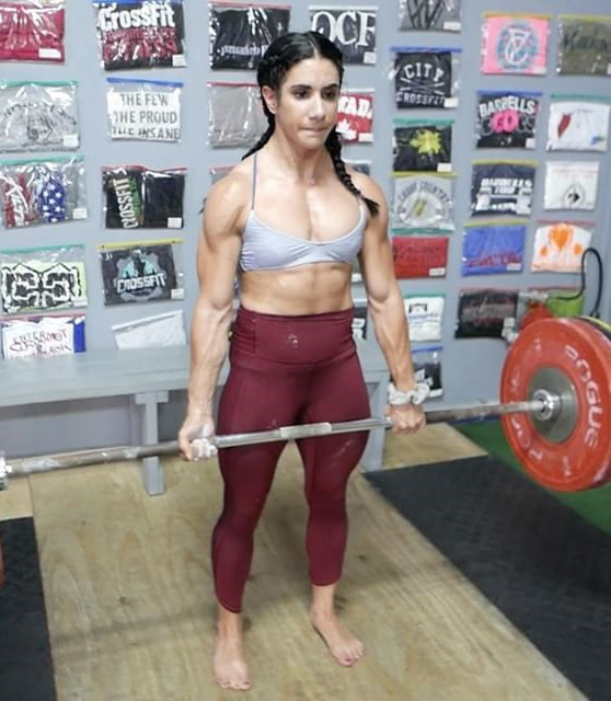 Stefanie Cohen lifting heavy weight