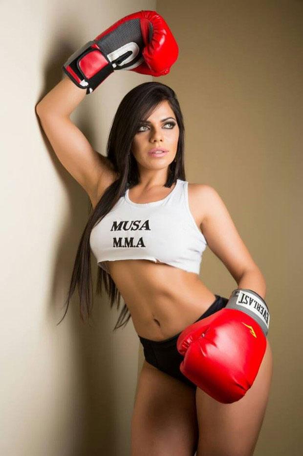 Suzy Cortez in a Muay Thai photo shoot.