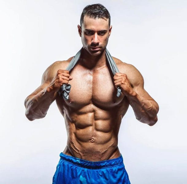 Alex Carneiro showing off his shredded physique.