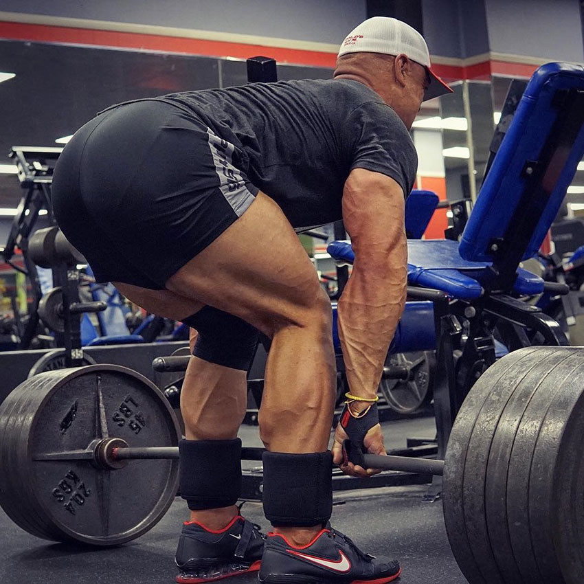 Anthony Perez performing a deadlift in the gym.