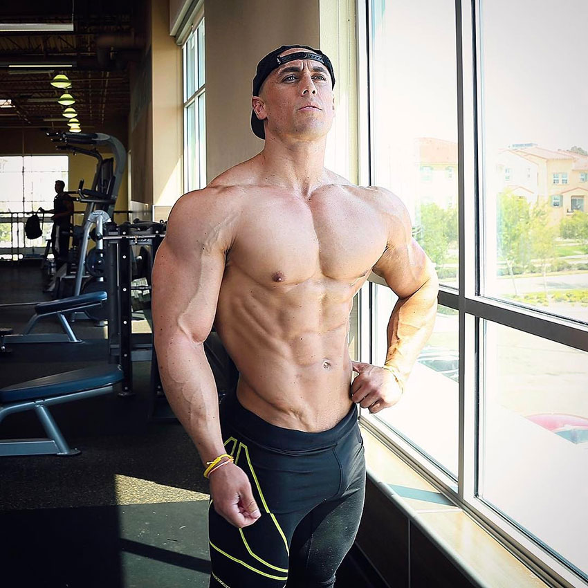 Anthony Perez posing in the gym.