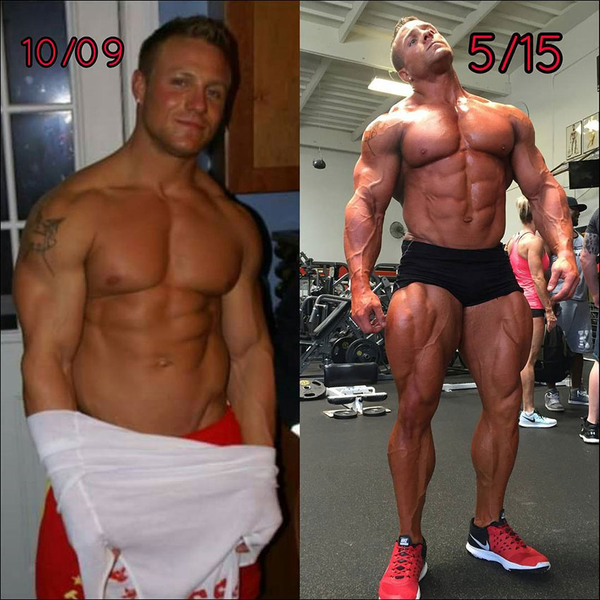 How Brad Rowe looked in 2009 compared to his physique in 2015.