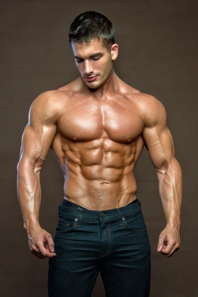 Chase Savoie showing off his ripped abs.