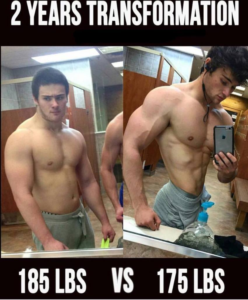 Dylan McKenna's transformation before-after