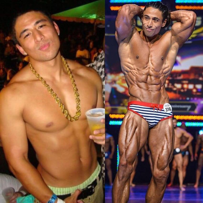 Justin Gonzales' transformation before-after