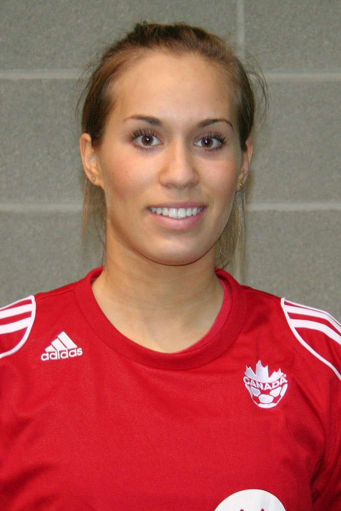 Marialye Trottier portrait photo of her when she played soccer for a canadian provincial team