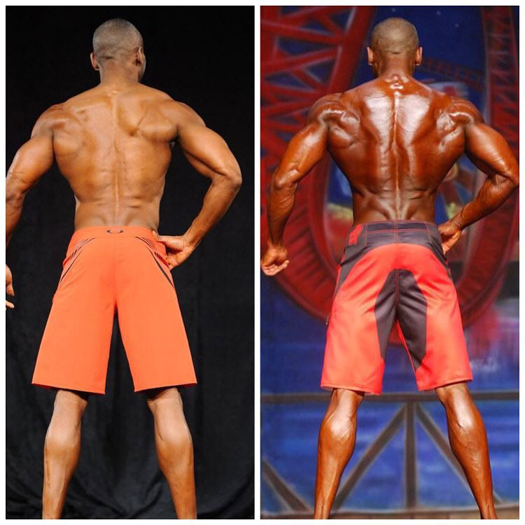 Michael Anderson's progression in his back muscles over his competitive career.