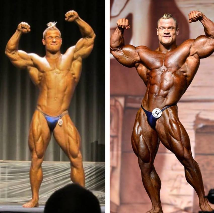 Nicolas Vullioud's transformation on the stage before-after
