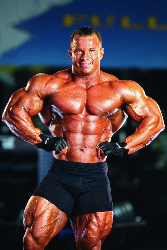 Ronny Rockel showing off his physique.