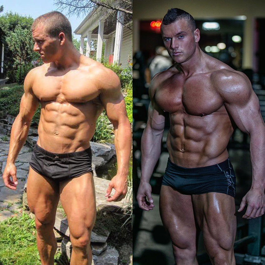 Samuel Dixon before compared to how he looks now.