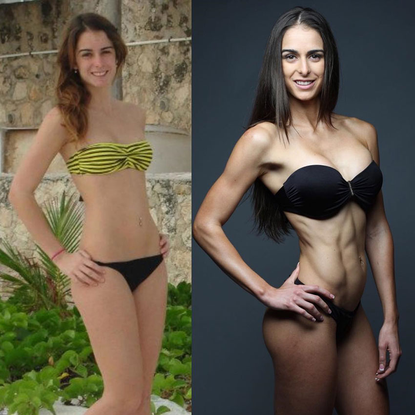 Stephanie Sequeira before compared to how she looks now.