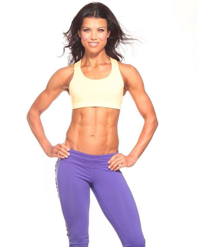 Susie Woffenden showing off her abs.