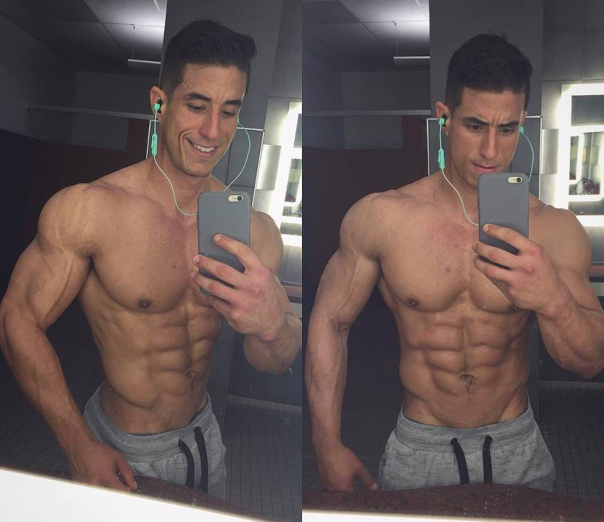 Tomas Echavarria taking a selfie of his awesome ripped upper body