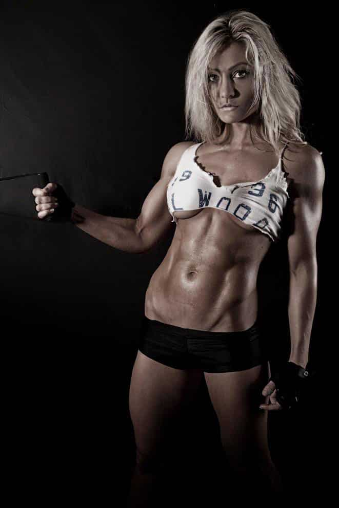 Zoe Daly showing off her incredible physique in a photo shoot.