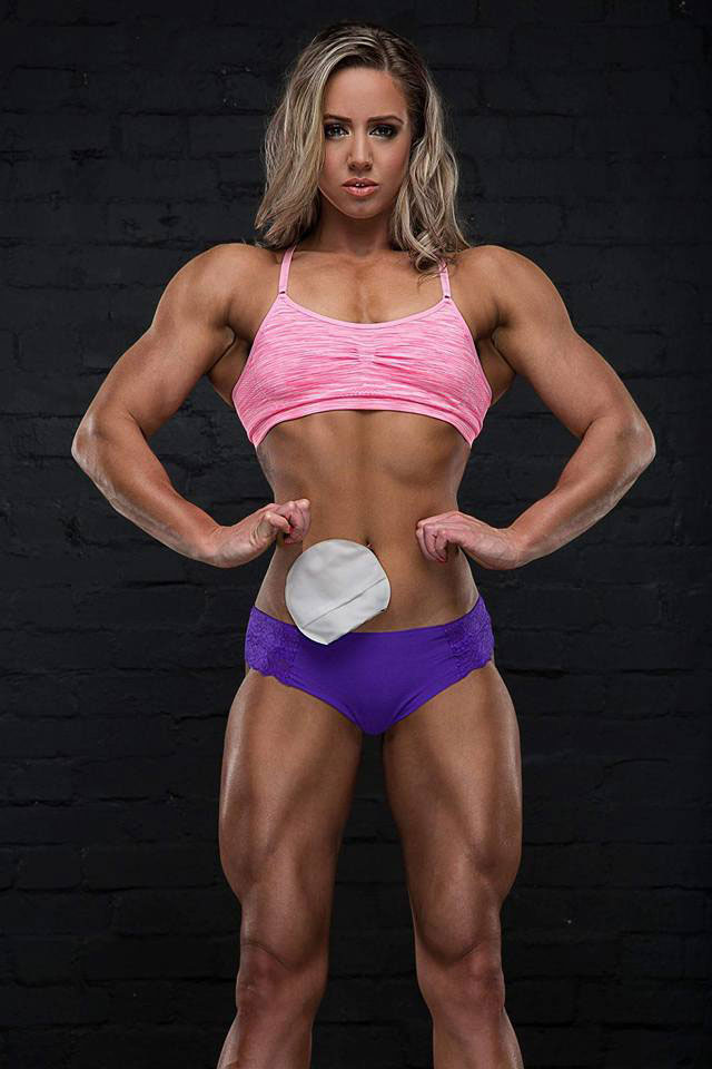Zoey Wright showing off her lean physique.