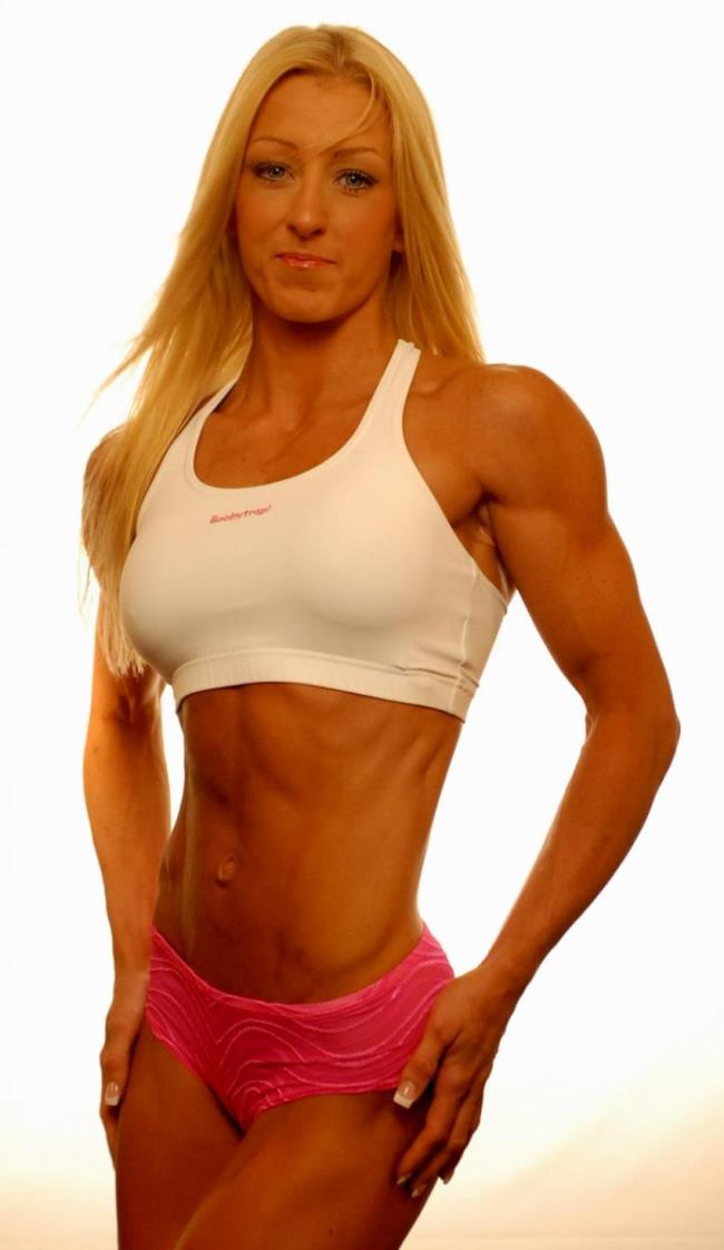Clare Taubman showing off her lean and fit figure in a photo shoot