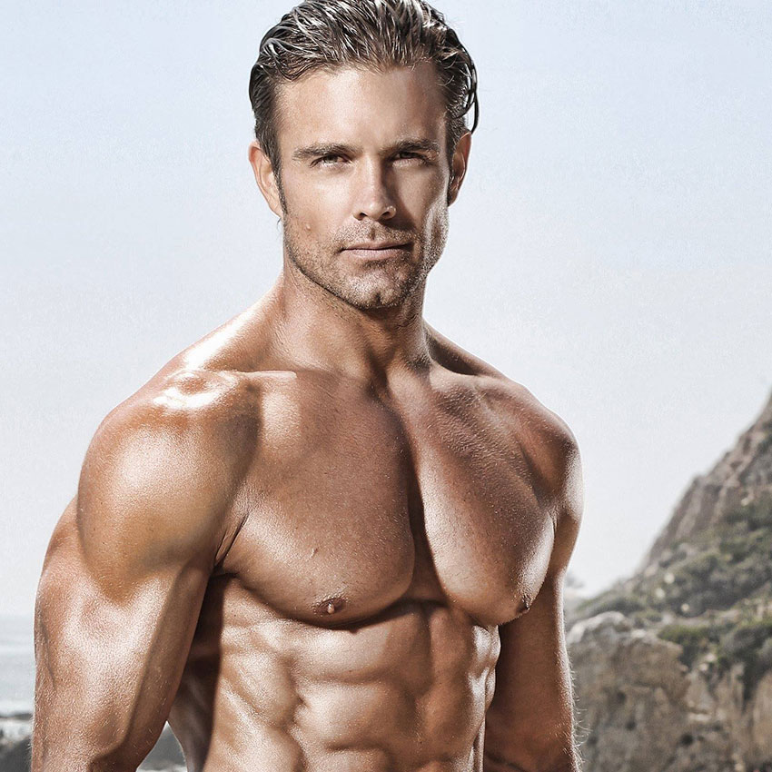 David Kimmerle showing off his ripped body in a photo shoot.