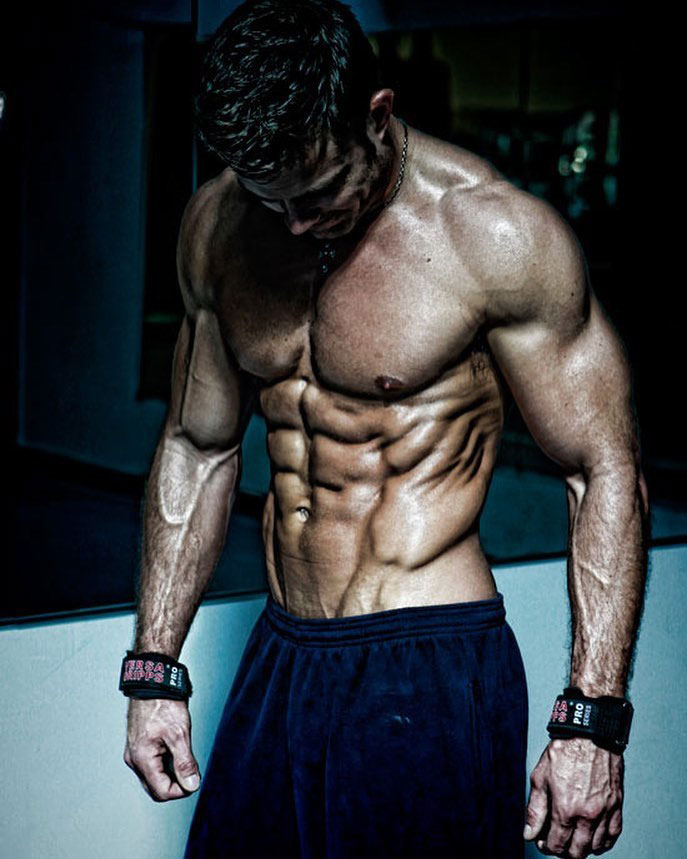 David Kimmerle showing off his lean body.