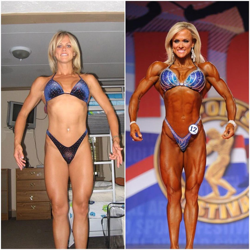 Gennifer Strobo in her first competition compared to one of her later ones.