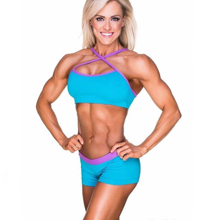 Gennifer Strobo showing off her lean body.