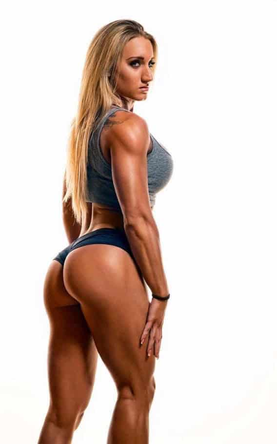 Hope Trask showing off her incredible glutes.