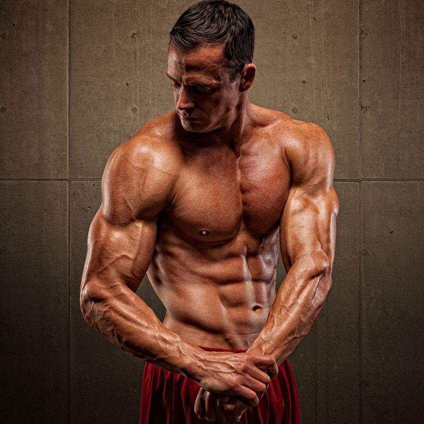 Jeremy Scott showing off his lean physique.