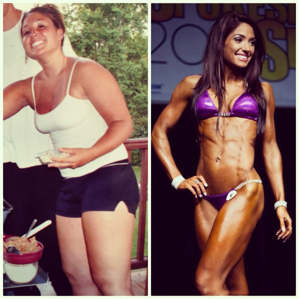 Karina Baymiller before compared to how she looks now.