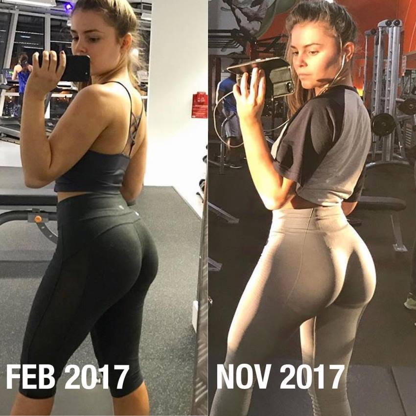 Kate Taylor's transformation selfie before-after