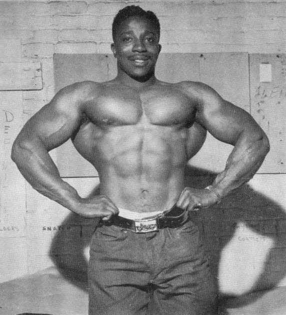 Leroy Colbert showing off his physique.
