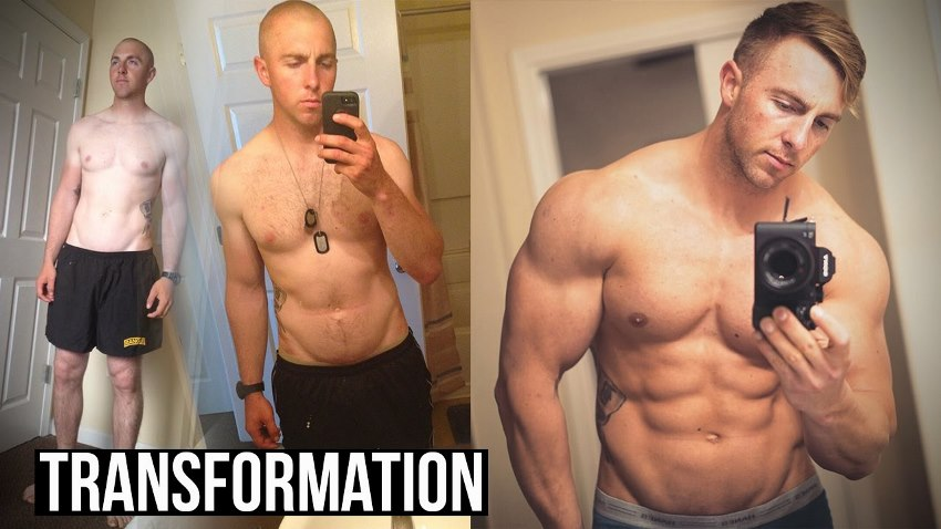 Nick Bare's transformation before-after