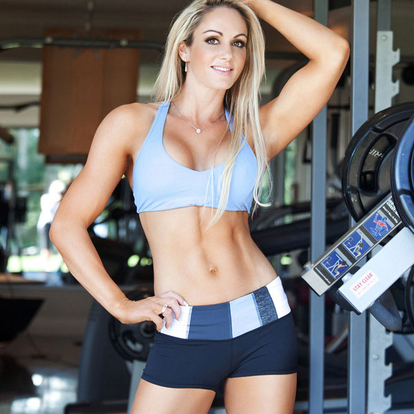 Raechelle Chase showing off her lean physique in a photo shoot.