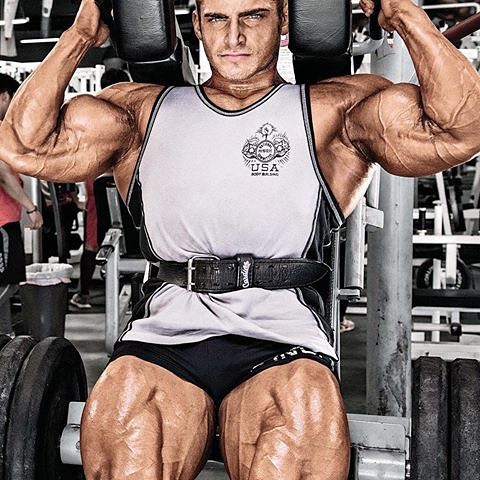Cody Montgomery posing for a photo showcasing his huge legs