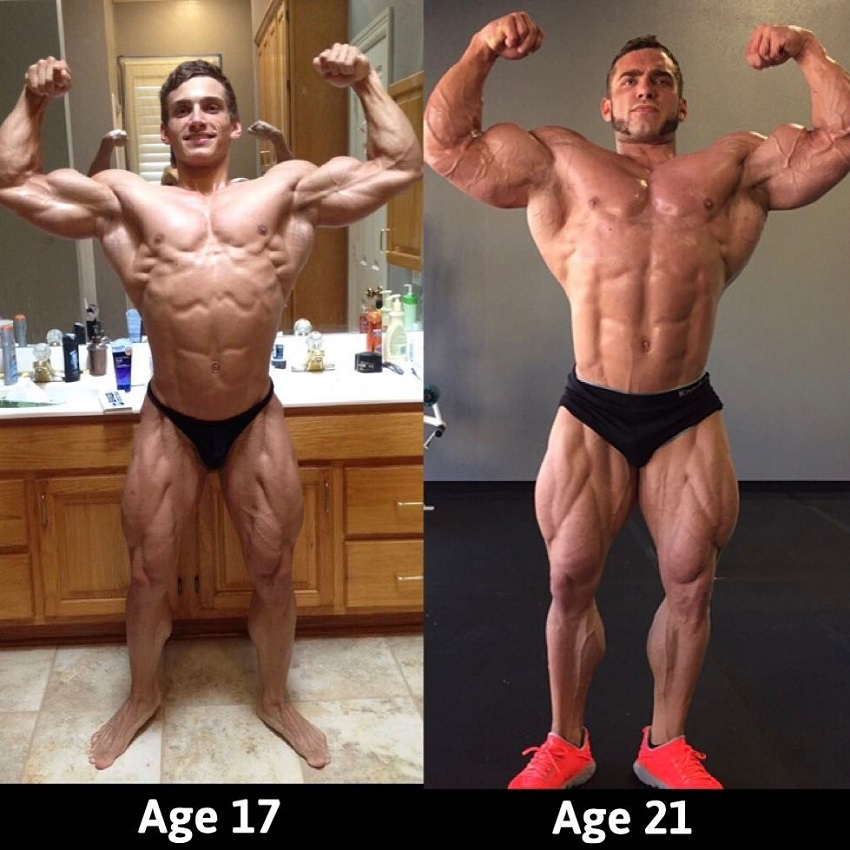 Cody Montgomery's bodybuilding transformation before-after