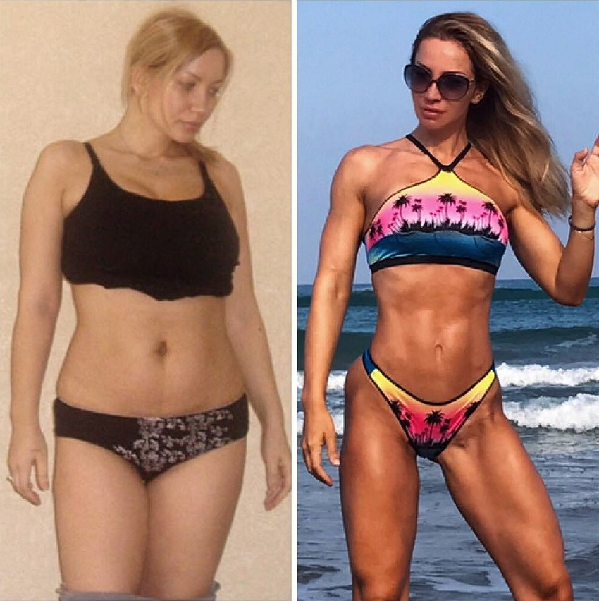 Kate Krasavina's transformation before-after
